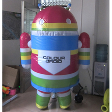 blue android mascot costume phone custom cartoon character cosplay adult size carnival