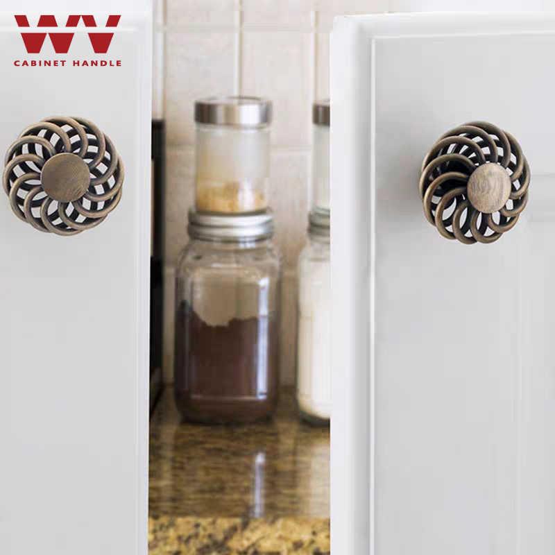 WV Vintage Cabinet Maniglie Hollow Birdcage Bronzo Antico Nero Cabinet Tira Cassetto Manopole Armadio Porta Tira la Maniglia della Mobilia