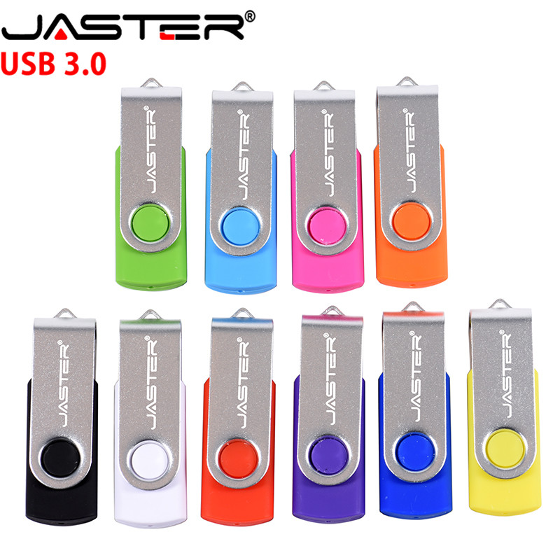 JASTER USB3.0 Swivel USB Flash Drive 256GB 128GB 64GB 32GB 16GB 8GB 4GB Pendrive High Quality Pen Drive Cle USB