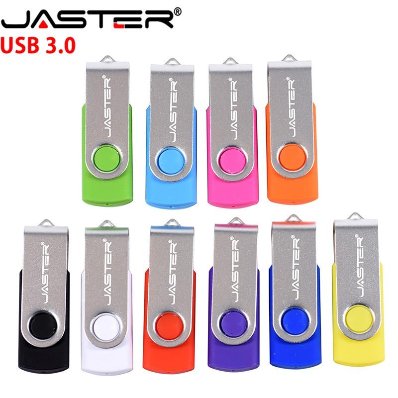 JASTER USB3.0 Swivel USB Flash Drive 256GB 128GB 64GB 32GB 16GB 8GB 4GB Pendrive High Quality Pen Drive Cle USB