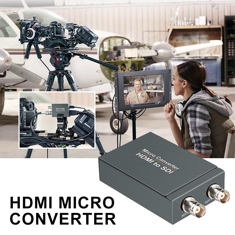 Micro convertisseur HDMI vers SDI avec alimentation Mini 3G HD 1080P SD-SDI convertisseur vidéo adaptateur détection automatique du Format pour appareil photo