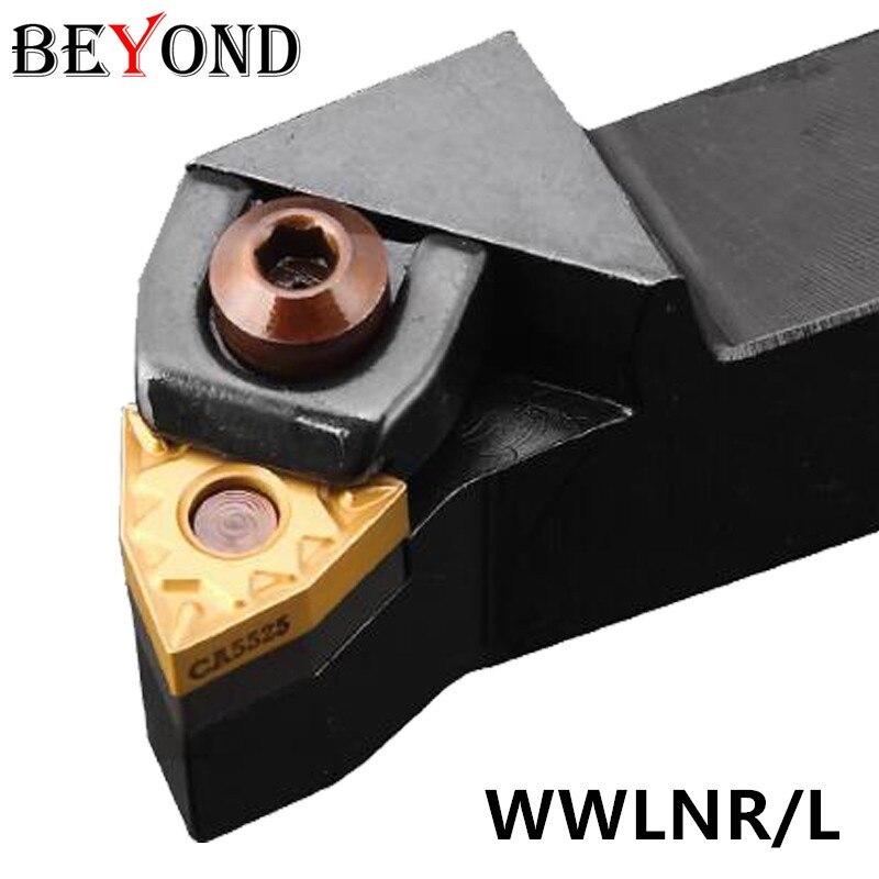 BEYOND WWLNR MWLNR WWLNR1616H08 WWLNR2525 CNC Turning Tool Holder WWLNR2020K08 MWLNR1616 Lathe Tools Carbide Inserts WNMG080408