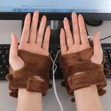 Heated-Gloves Hand-Warmers Cute Fingerless Toast-Shape Christmas-Gift Winter New-Year