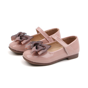 Bekamille Kid Sandals For Girls Princess Shoes Fashion Solid Color Children Bow Little Girls Leather Shoes Toddler Girls Shoes