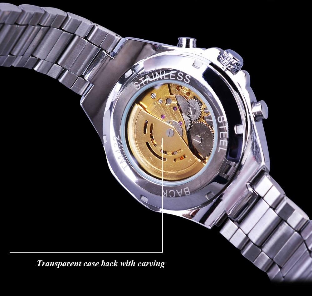 Ha33ecedf4b454c86aa3aebc7aa569b53O Winner Classic Series Golden Movement Steel Mens Skeleton Man Wrist Watch Mechanical Top Brand Luxury Fashion Automatic Watches
