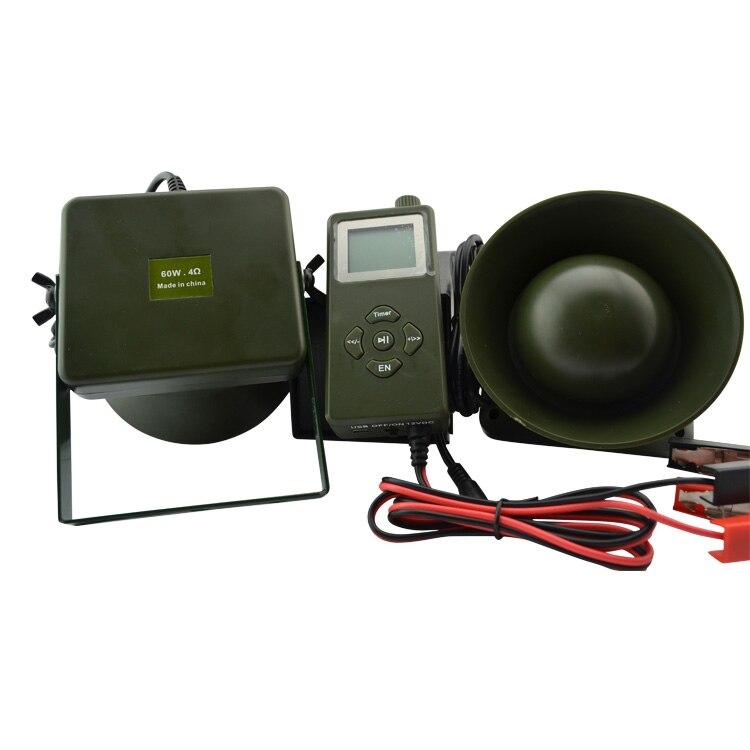 PDDHKK 300 sons 2*60W externe haut-parleur électronique mp3 chasse oiseau appelant avec minuterie on/off dinde oie chasse leurre