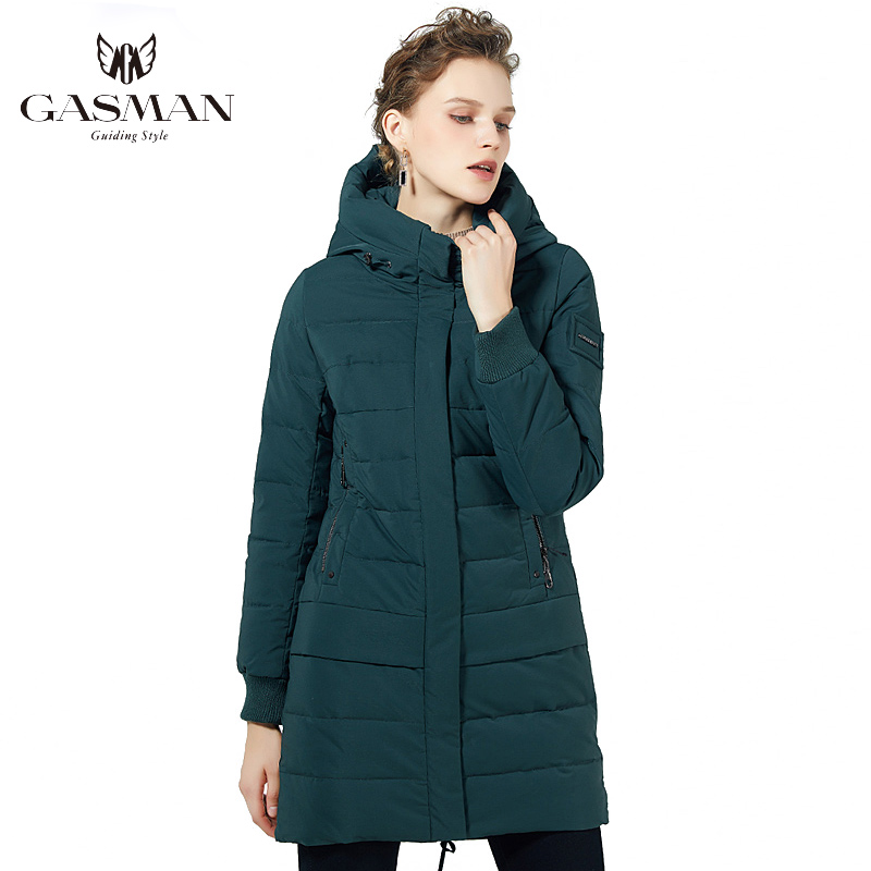 GASMAN 2019 Long Coat Jacket Down Winter Coat Women Hooded Warm Parka Coat High Quality Female New Winter Windproof Jacket 1820