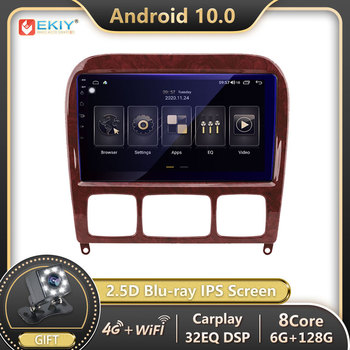 EKIY 9''Android 10.0 Car Radio Stereo DVD Player For 1998-2005 Mercedes Benz S Class W220 S280 S320 S350 S400 S430 S500 S600 AMG image