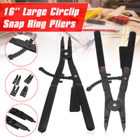 2Pcs 16'' Large Circlip Snap Ring Pliers Set Ring Remover Retaining Circlip Pliers For Workshop DIY Home Hand Tool