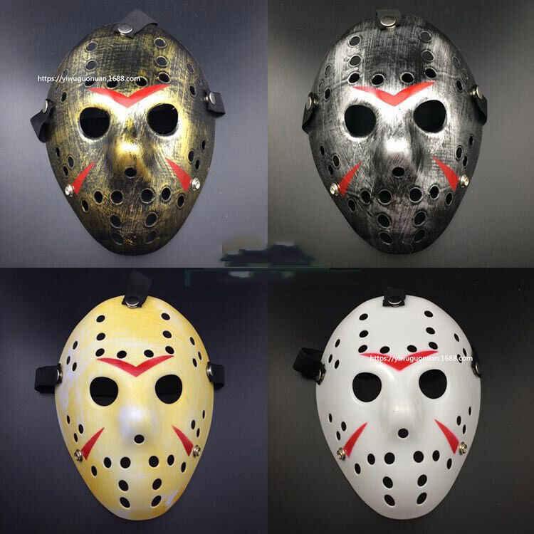 Elegante Máscara de Hóquei Jason Voorhees Friday the 13th Horror Assustador Máscara de Halloween Máscaras Do Partido