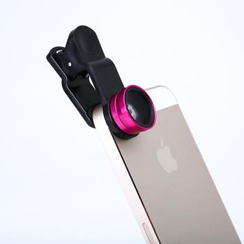 Szeroki kąt makro obiektyw typu rybie oko zestawy kamer telefon komórkowy rybie oko obiektywy z klipsem dla iPhone Samsung wszystkie telefony komórkowe tanie i dobre opinie PETBON Monokularowy