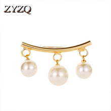 ZYZQ Luxury Brooch Wedding Engagement Accessories For Women With Triple Simulated Pearl Nice Gift Jewelry Girlfriend Hot