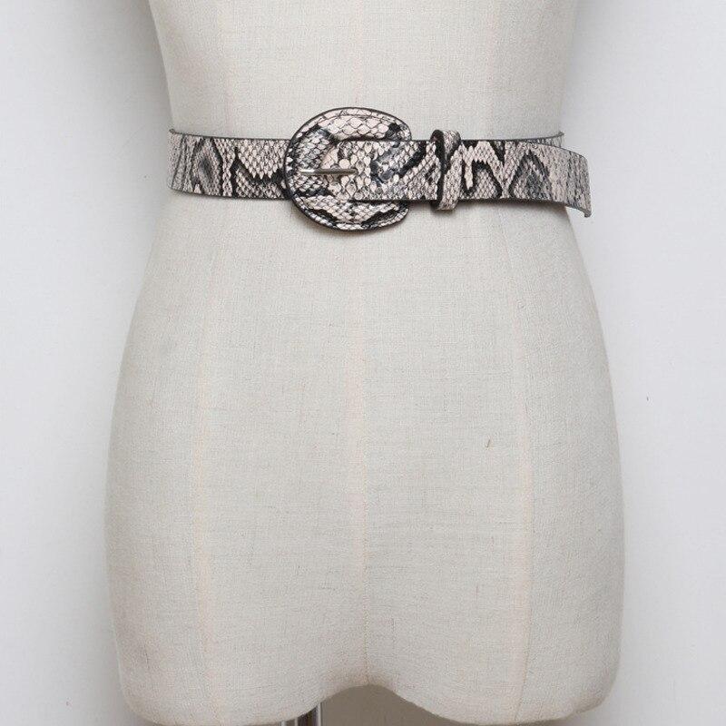 2020 Spring Stylish New Design Waistband Corset Belt Fashion PU Leather Serpentine Belts For Women Wide Belt Female Belt ZK604
