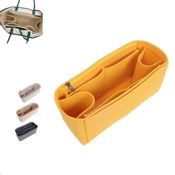 Dla GOYARD M L filc wkładka organizator do torby torebka do makijażu organizator do torby podróż wewnętrzna przenośna kosmetyczka oryginalna organizuj torby tanie i dobre opinie felt cloth Bag Box felt cosmetic bag