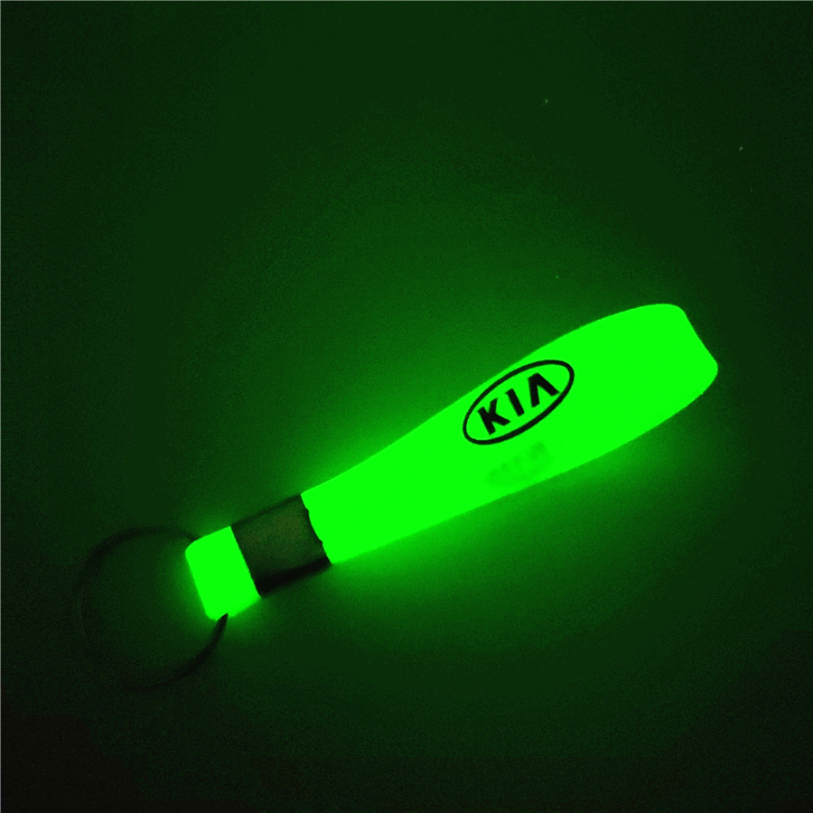 Luminous Green Car Keychain KeyRing For Kia Rio Ceed Sportage Cerato Soul Sorento K2 K5 Car Styling