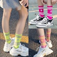 Calcetines de otoño e invierno de los Hombres Nuevo INS estilo de la calle a rayas calcetines con calaveras marea calcetines estilo universitario de pareja de algodón calcetines 11