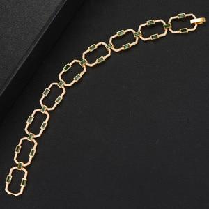 Image 5 - Женский винтажный браслет GODKI, браслет на запястье с квадратной цепочкой и кубическим цирконием, богемные ювелирные изделия