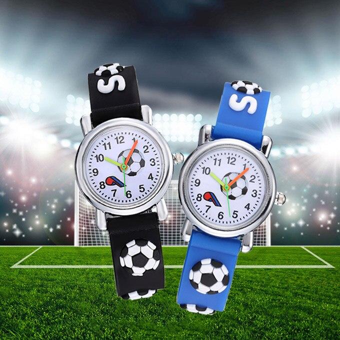 3D Football Silicone Kids Watches Cool Design Cartoon Ball Children Watch Cute Quartz Clock Boy Girl Baby Gift Montre Enfant