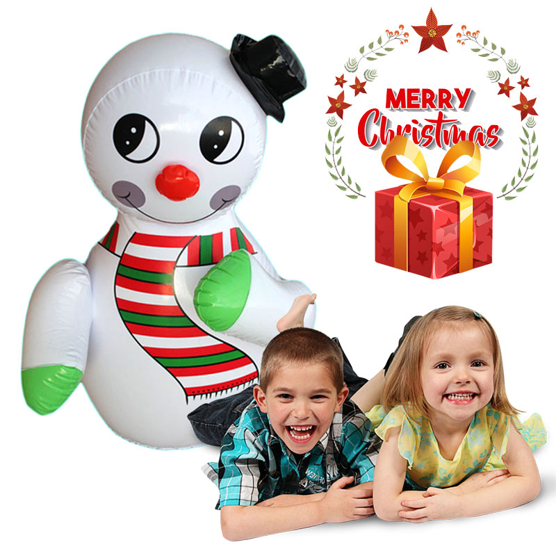 Plastic Inflatable Snowman Tumbler Supper Market Hotels Christmas Entertainment Decoration Funny Props Cute Holiday Kid