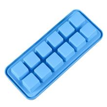 12 квадратной формы силиконовый лоток для льда Форма для изготовления мороженого замороженные формы кухонный инструмент CM121