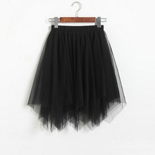 Double layer Mesh Bubble Ball Gown Mini Skirt SF