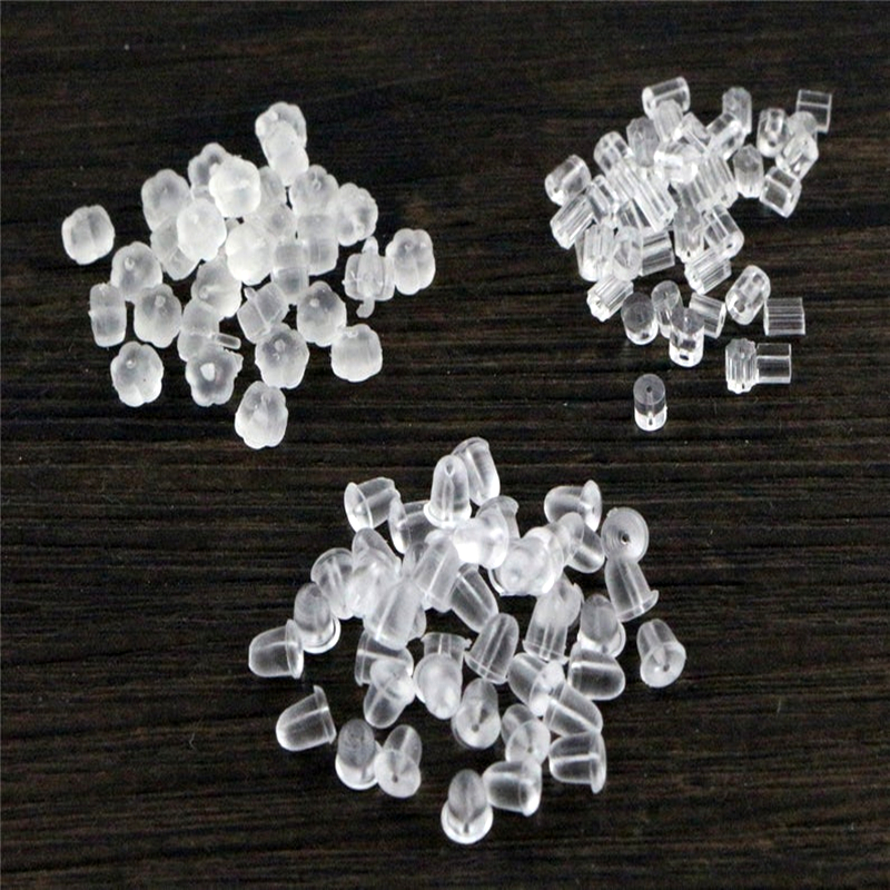 400pcs 5*3mm And 4*2mm Plastic Earring Back Plug Cap Nail Accessories Anti-allergic Anti-inflammatory DIY Jewelry Accessories