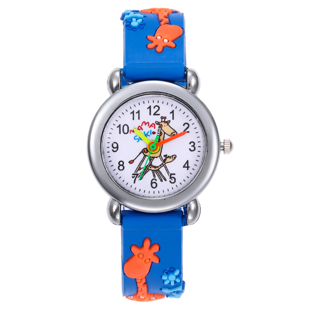 2020 New Children's Clock Student Giraffe Children Boys Girls Kids Watches Women Silicone Quartz Child Watch Relogio Masculino