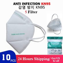 10PCS N95 Mask Disposable Face Masks Non-woven Anti Particle Mask Protection Dustproof Anti Virus Mouth Fliters Masks