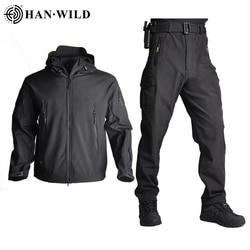 TAD, мужская куртка для охоты с мягкой оболочкой, тактические куртки, армейская Водонепроницаемая камуфляжная одежда для охоты, костюм из кож...
