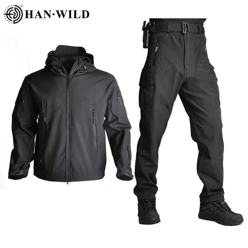 TAD, мужская куртка для охоты с мягкой оболочкой, тактические куртки, армейская Водонепроницаемая камуфляжная одежда для охоты, костюм из кожи акулы, военные Пальто + штаны