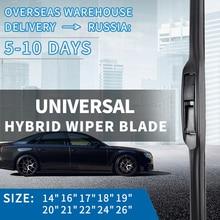 14161718192021222426 Universal Wiper Blades U-Type Windshield Windscreen Silicone Rubber Auto Car Accessories