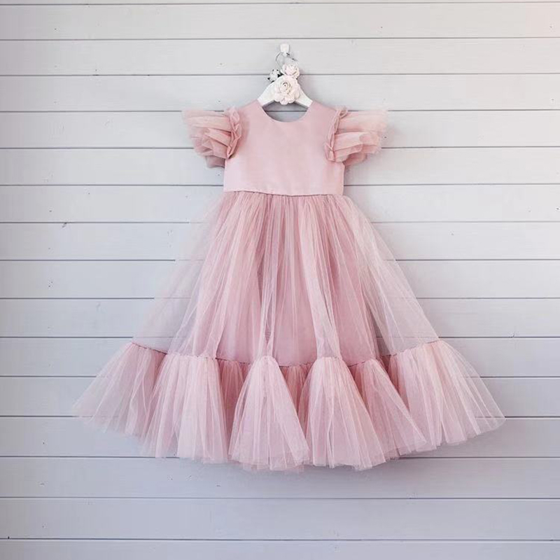 Fashion Flower Girls Dresses For Wedding And Party Kids Princess Dresses Long Girls Summer Dress Vestidos Children Costumes
