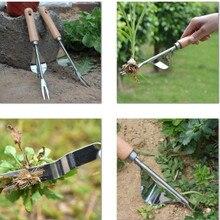 Гербицид из нержавеющей стали инструмент для прополки рассады Совок Лопата рассады ручка лопаты