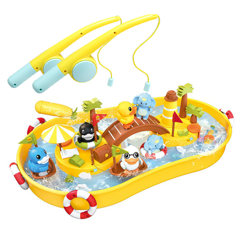Beach Toys For Kids Magnetic Fishing Baby Bath Toys Children Sandbox Set Kit Summer Toys For Beach Play Sand Outdoor Toy