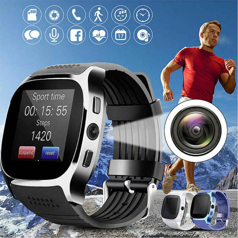PYMH hommes femmes montre intelligente Bracelet Sports de plein air Fitness Tracker téléphone SIM Bluetooth caméra pour Android IOS