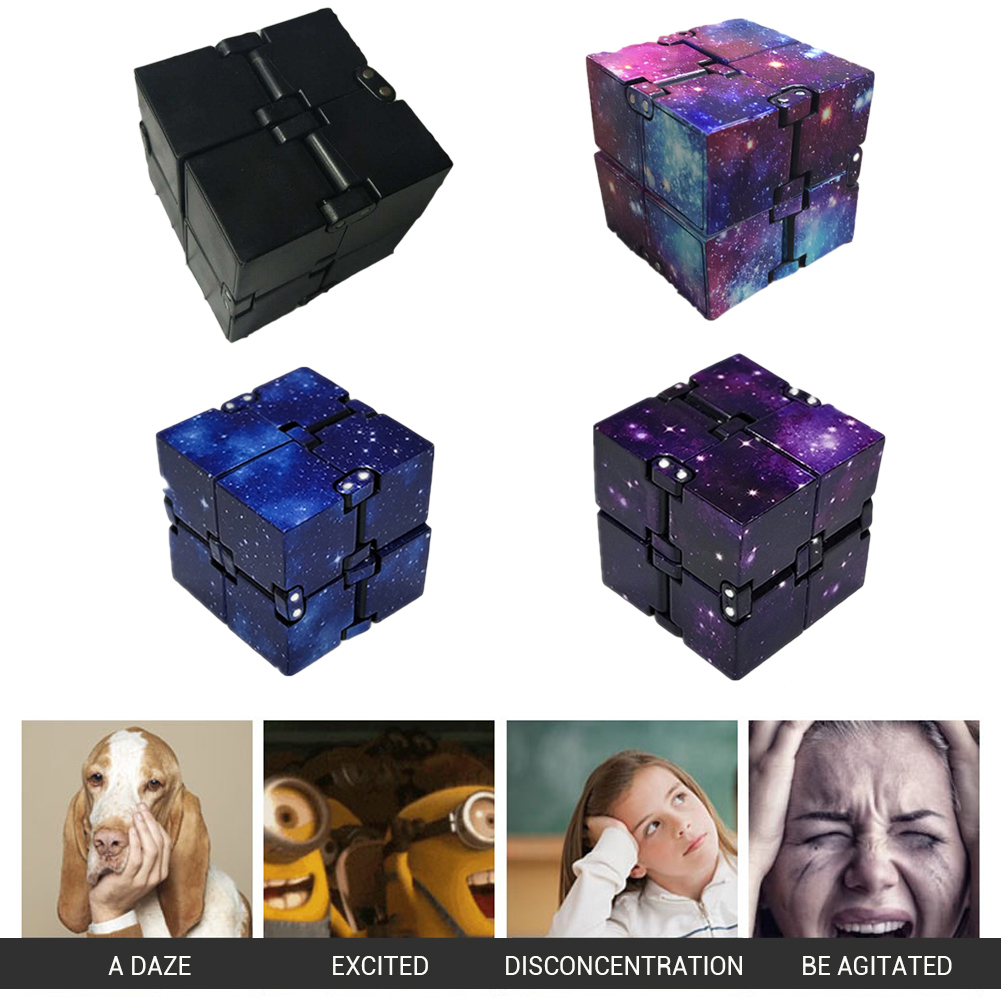 Cube-Toys Decompression Stress-Anxiety Infinite Mini for Relieving Suitable-For Children img3