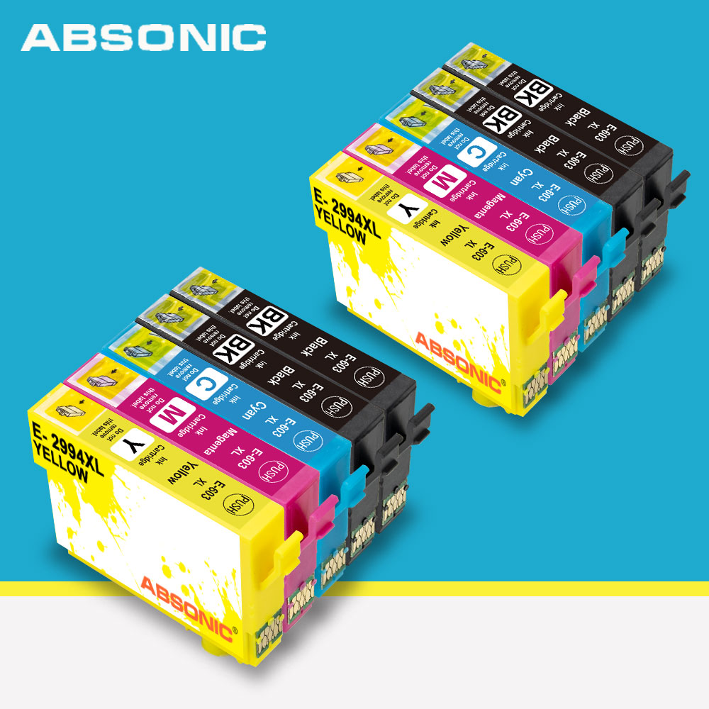 10PK 603 XL Compatible for <font><b>Epson</b></font> 603XL E603 T603 for <font><b>XP</b></font>-<font><b>2100</b></font> <font><b>XP</b></font>-3100 WF-2810 <font><b>XP</b></font>-3105 <font><b>XP</b></font>-4100 <font><b>XP</b></font>-4105 WF-2830 <font><b>XP</b></font>-2105 Printer image