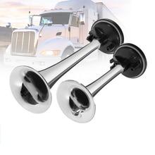 2 шт. черный воздушный гудок двойная труба ABS воздушный насос воздушный гудок труба для автомобиля грузовика поезда лодки
