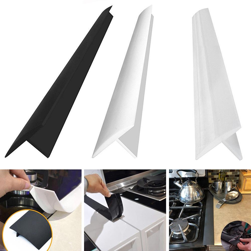 Kitchen Stove Counter  Cover Anti-dirty Sealing Rubber Strip Cover Sink Sealing Strip 53.5x5.6x1 Cm Corrosion-resistant, Soft