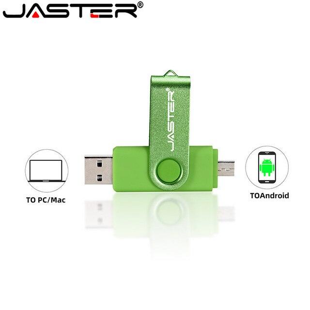 JASTER USB 2.0 OTG USB flash drive Smart Phone Tablet PC 4GB 8GB 16GB 32GB 64GB  Pendrives OTG Real Capacity Usb stick 3