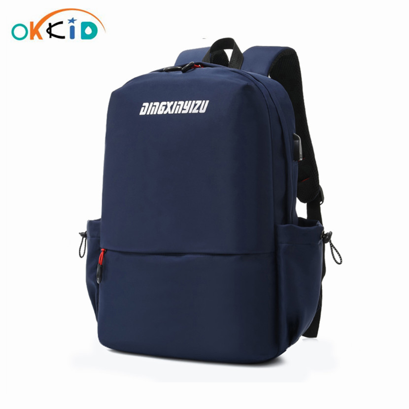 OKKID school bags for boys book bag male anti theft laptop backpack usb charge waterproof backpack student bagpack dropshipping