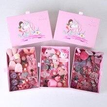 24 Pcs/box New Korean Fashion Children Headdress Cartoon Portable Gift Box Set Cute Girl Birthday Gift Hair Accessories marvis black box gift set