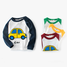 T shirt Boys Tops Children Clothes Long-Sleeve Toddler Baby Kids Tee Cotton Cartoon Print Car Machine Clothing t shirts kids clothing tops boys girls toddler long sleeve baby cartoon children cotton summer print car machine tees