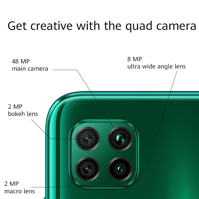 Google Play Global Version Huawei P40 lite Smartphone 6GB 128GB 48MP AI Cameras 16MP Front Camera 6.4'' Screen Kirin 810