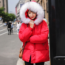 Women loose hooded thick warm jacket new short winter jacket fur collar Cotton coat girl Jacket Fashhion Brand Parkas brand baby infant girls fur winter warm coat 2018 cloak jacket thick warm clothes baby girl cute hooded long sleeve coats jacket
