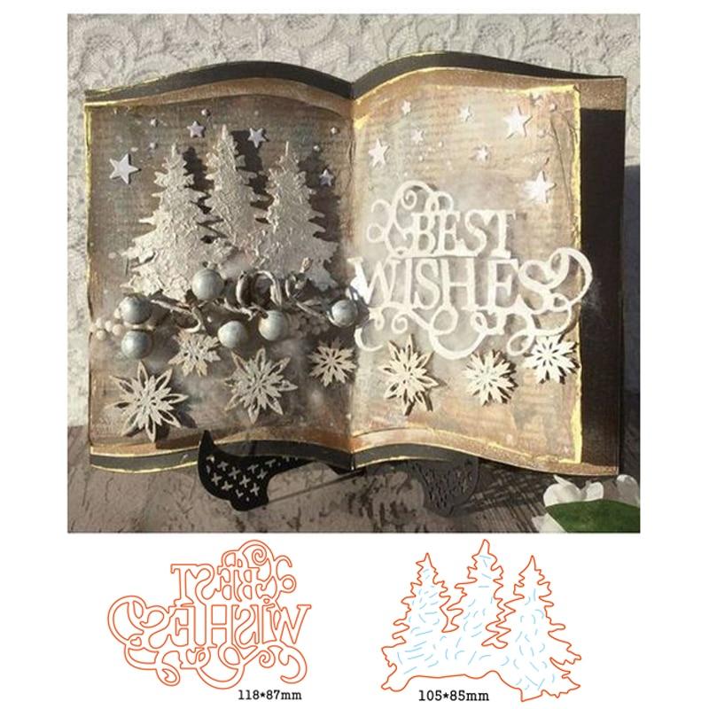 Festive Snowglobe Cutting Dies Metal Stencil for DIY Scrapbooking Handmade Cards