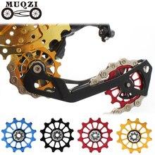 MUQZI велосипед 12 т положительный отрицательный зуб колеса Задний переключатель направляющий шкив керамический подшипник