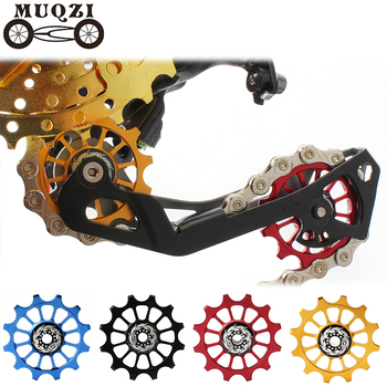 цена на MUQZI Bicycle 12t Positive Negative Tooth Wheel Rear Derailleur  Bike Guide Pulley Ceramics Bearing