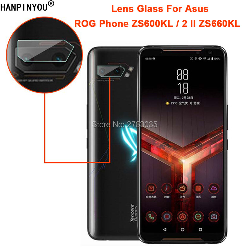 For Asus ROG Phone 2 II ZS660KL / ZS600KL Clear Ultra Slim Back Camera Lens Protector Rear Camera Len Cover Tempered Glass Film