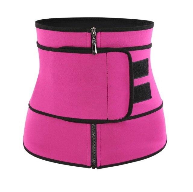 Women Sauna Thermo Shaper Sweat Waist Trainer Belt Slimming Vest Corset Black 4